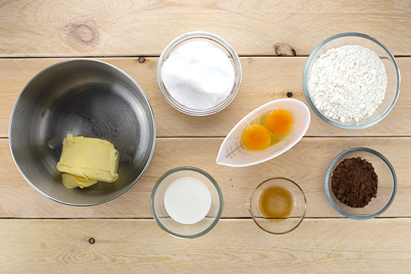 Marble Pound Cake Ingredients